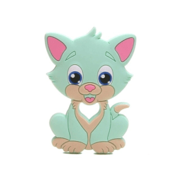 Mordedor infantil gatinho em silicone