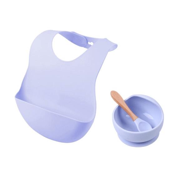 Kit alimentação do bebê com 3 itens